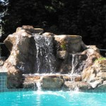 Outdoor waterfall and Pool